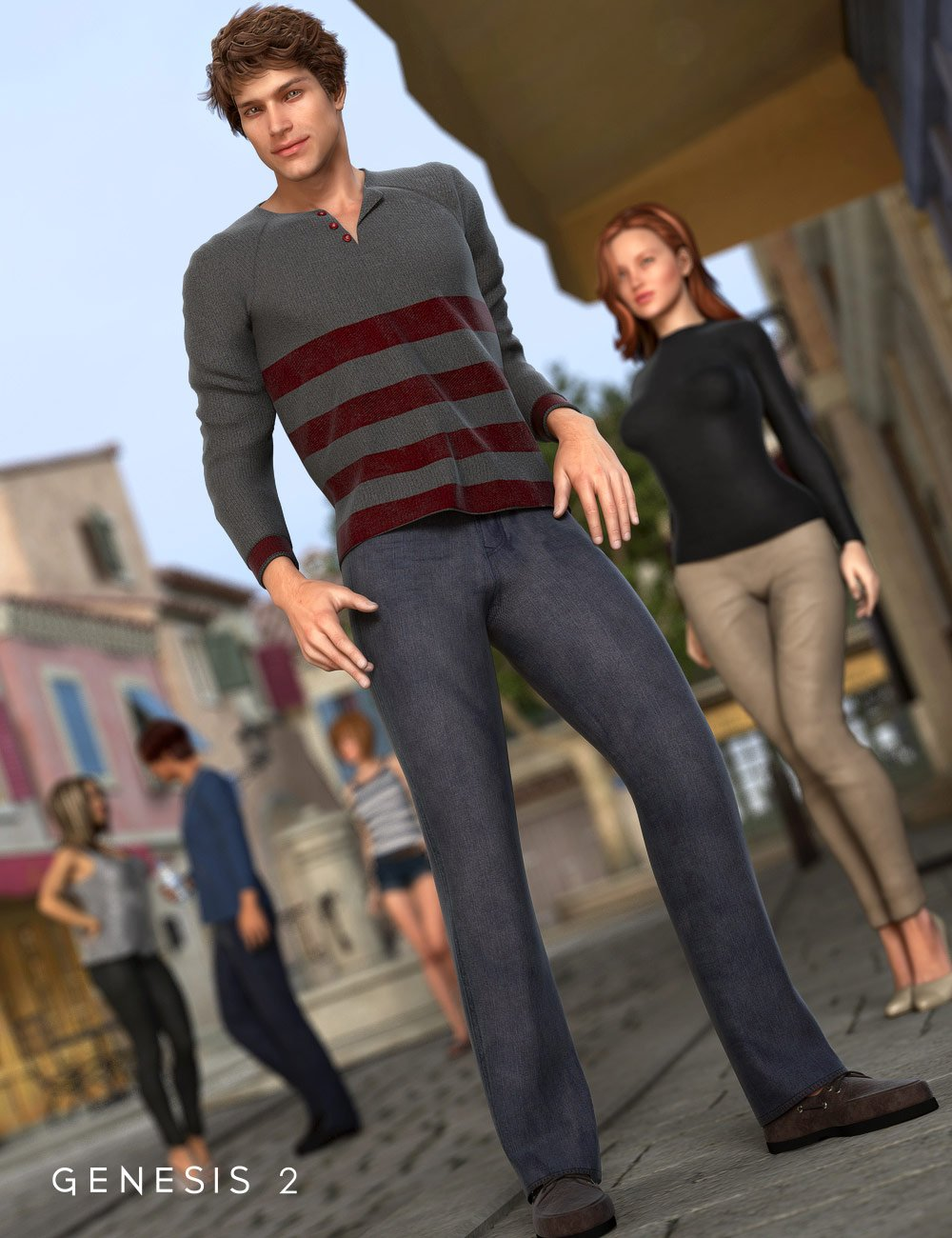 Newport Outfit for Genesis 2 Male(s) by: MadaSarsa, 3D Models by Daz 3D