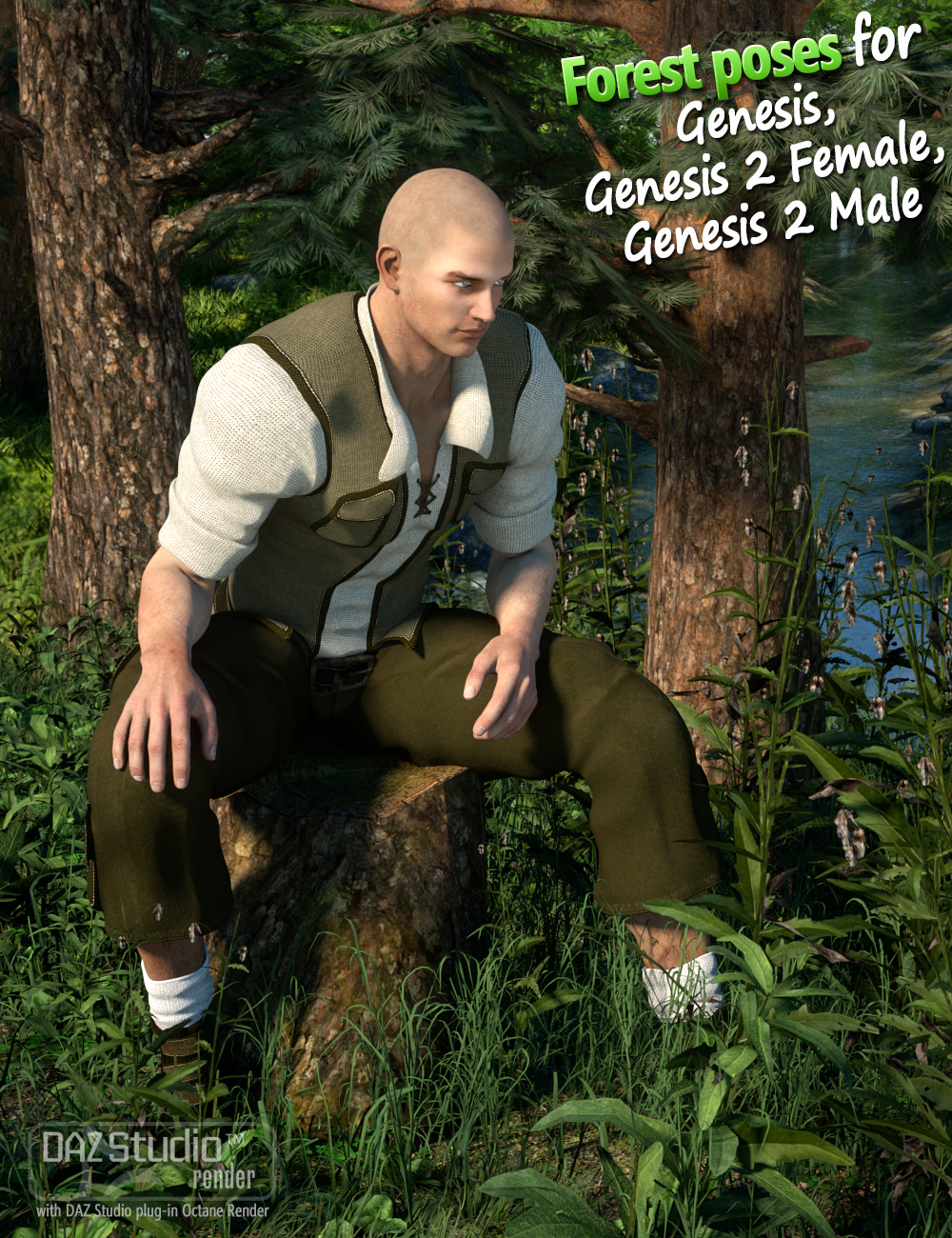 Forest Poses for Genesis and Genesis 2 by: Andrey Pestryakov, 3D Models by Daz 3D