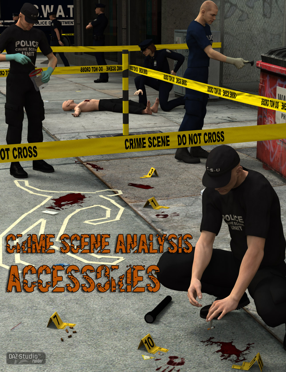 Crime Scene Analysis : Accessories by: V3Digitimes, 3D Models by Daz 3D