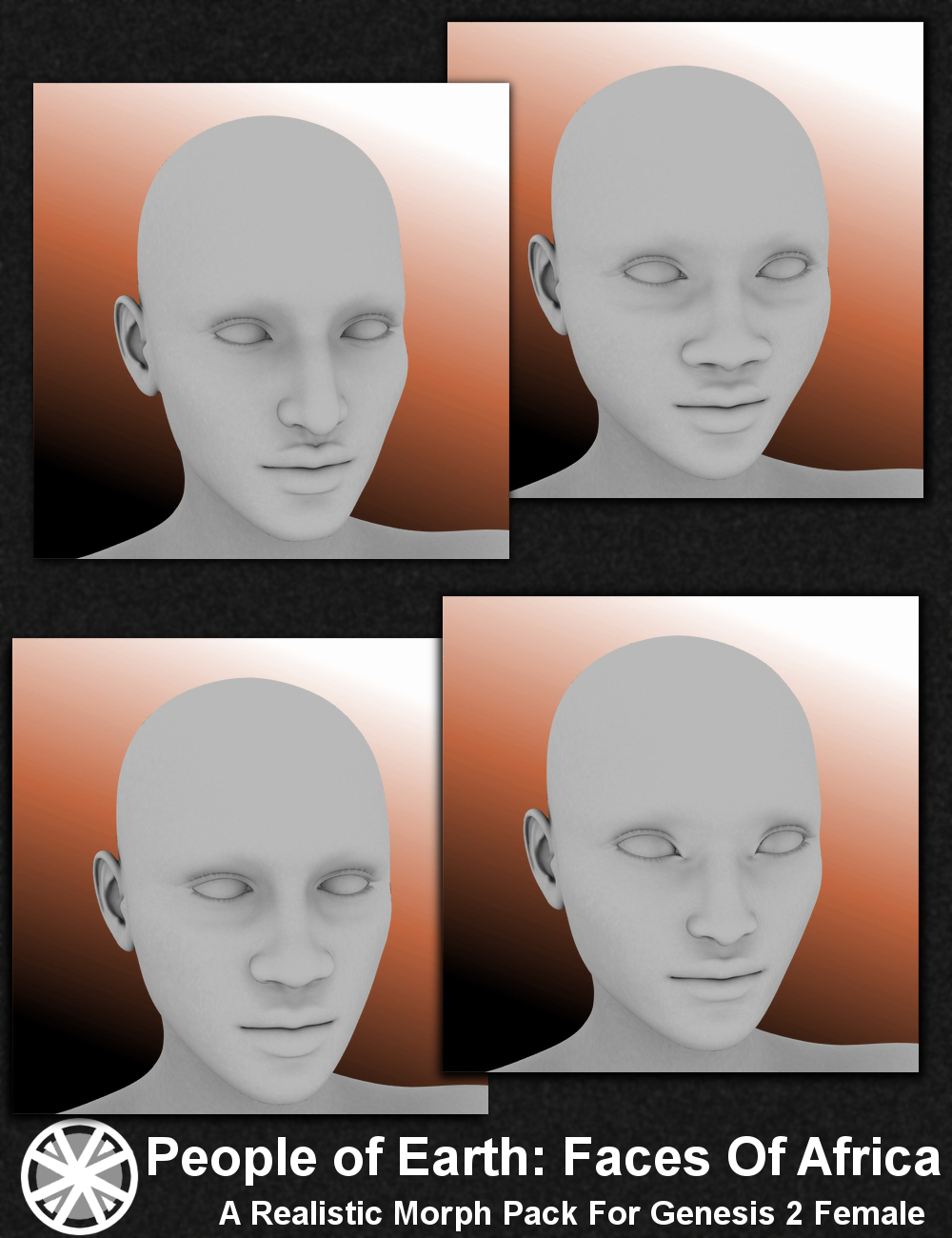 People of Earth: Faces of Africa Genesis 2 Female(s) by: Sickleyield, 3D Models by Daz 3D