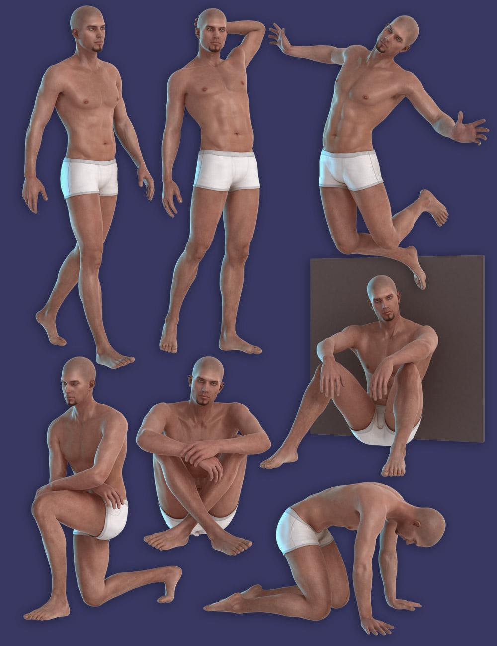 Capsces Poses M6 Pack 1 by: Capsces Digital Ink, 3D Models by Daz 3D