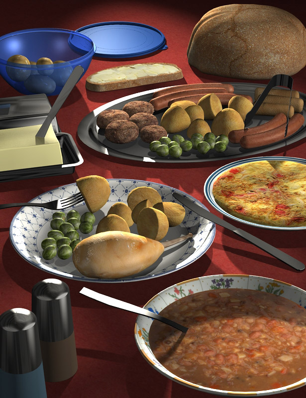 Everyday Food by: maclean, 3D Models by Daz 3D