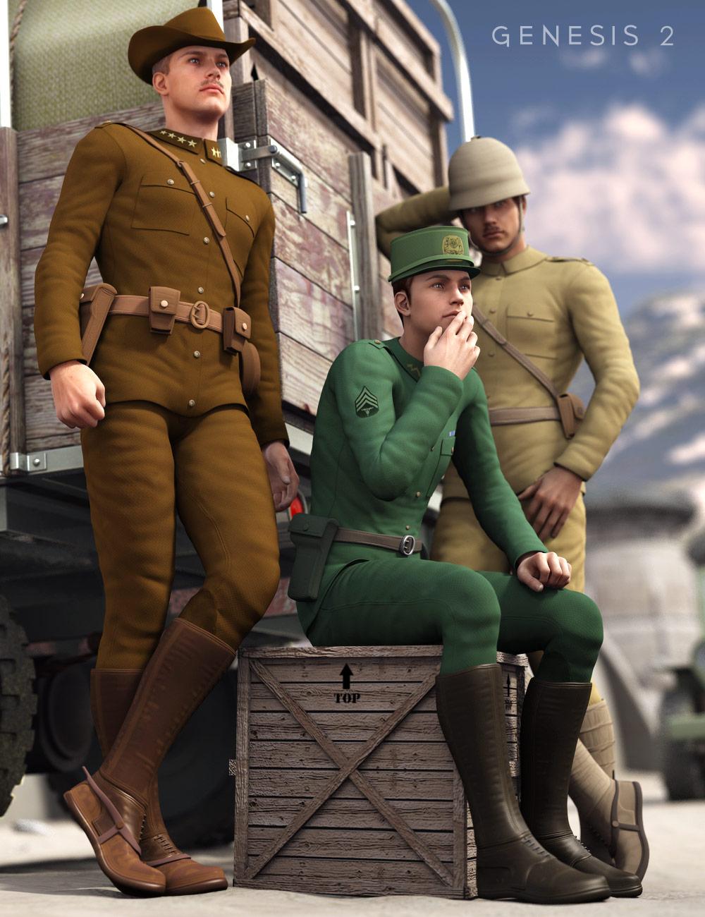 Uniforms for Michael 6 by: Oskarsson, 3D Models by Daz 3D