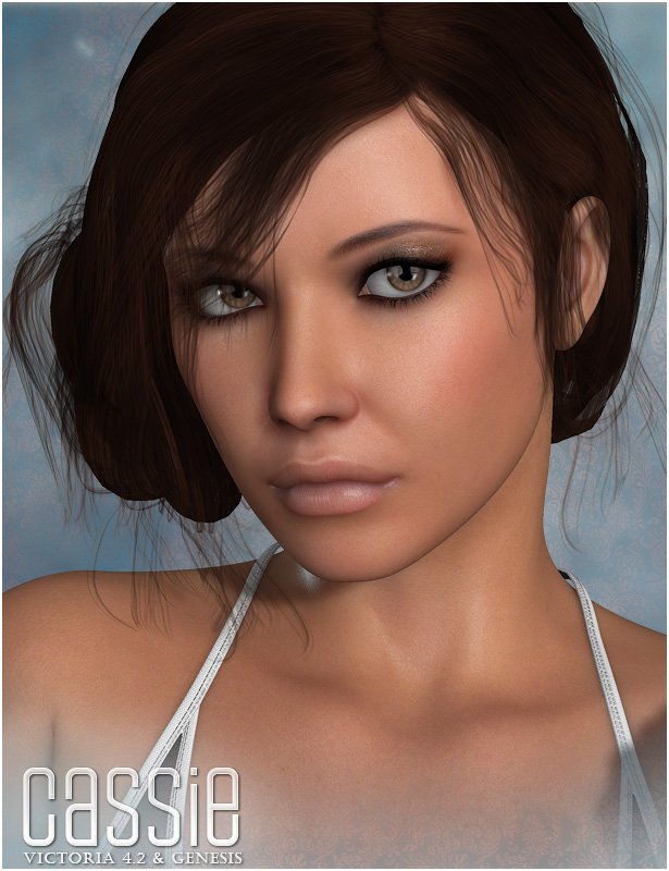 Cassie for V4 and Genesis by: OziChick, 3D Models by Daz 3D