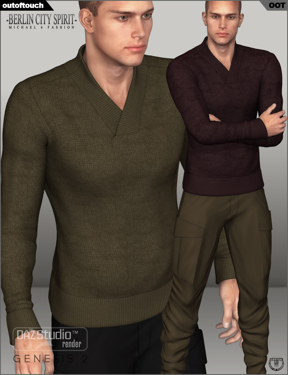 Berlin City Spirit Fashion for Genesis 2 Male(s) by: outoftouch, 3D Models by Daz 3D