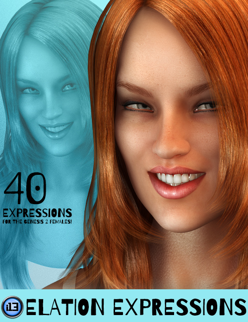 i13 Elation Expressions for Genesis 2 Female(s) by: ironman13, 3D Models by Daz 3D