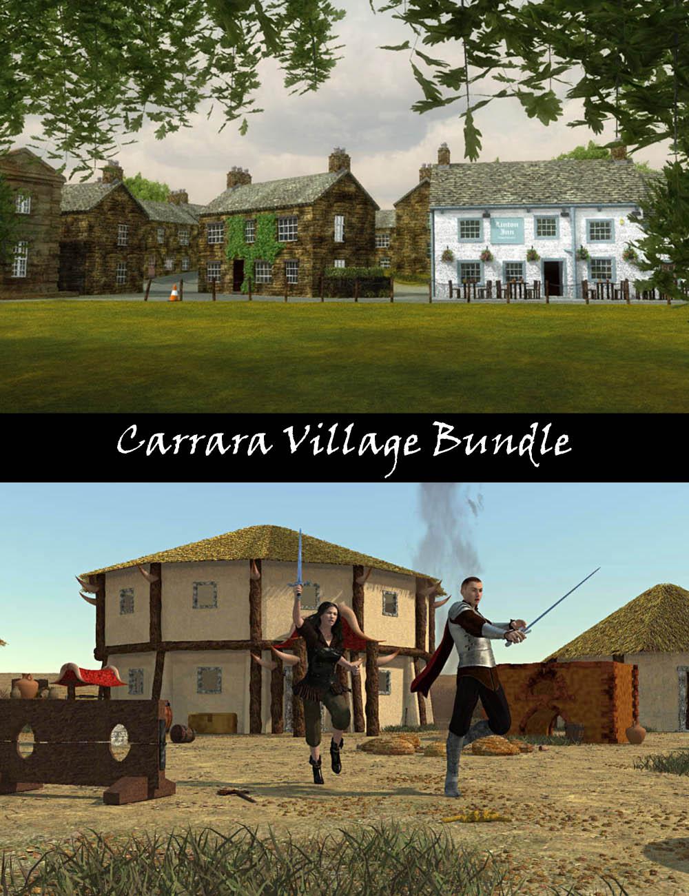 Carrara Village Bundle by: PhilW, 3D Models by Daz 3D