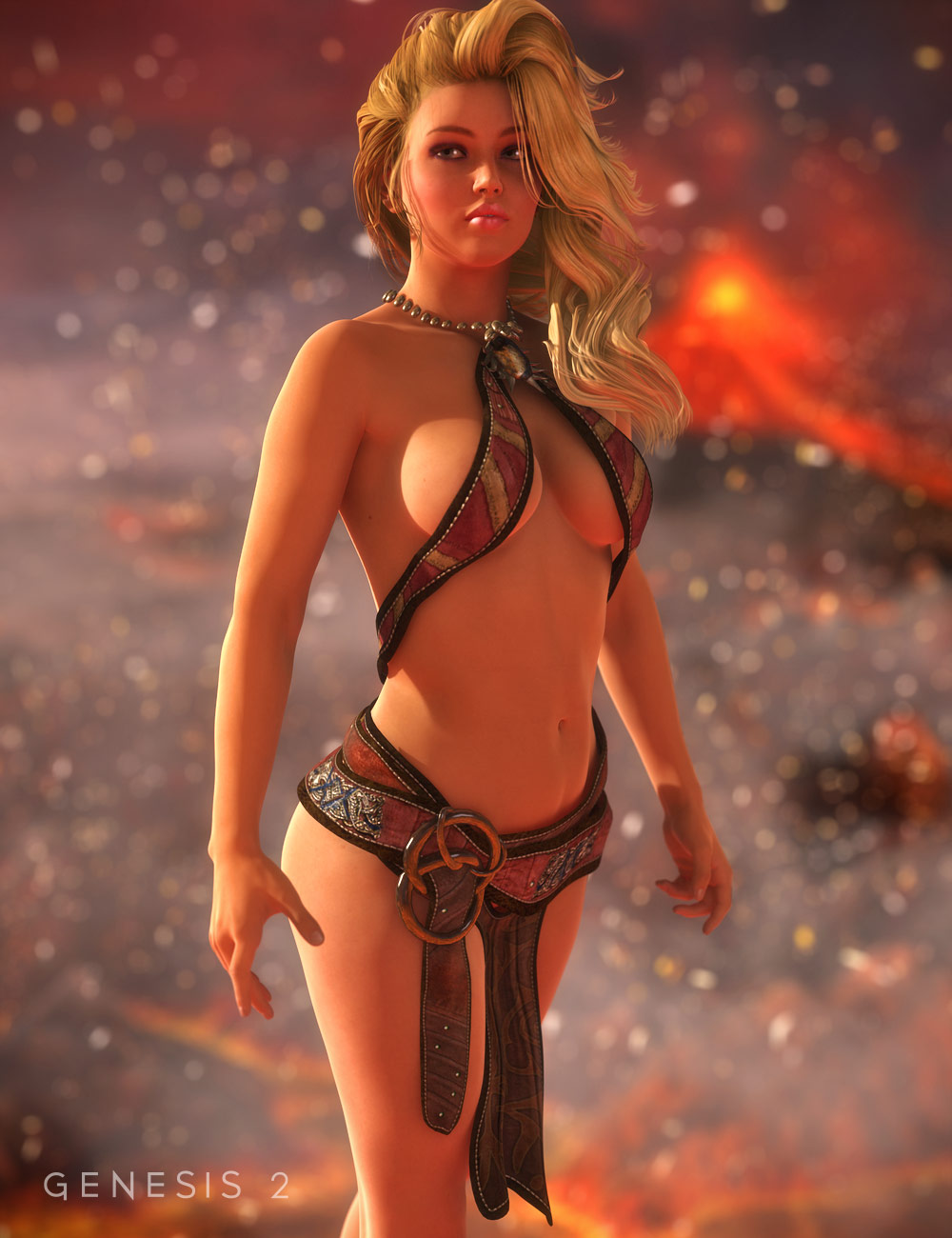 Prehistoric Princess for Genesis 2 Female(s) by: Barbara BrundonSarsa, 3D Models by Daz 3D