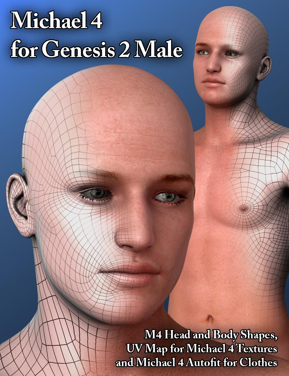 Michael 4 for Genesis 2 Male by: SloshWerks, 3D Models by Daz 3D
