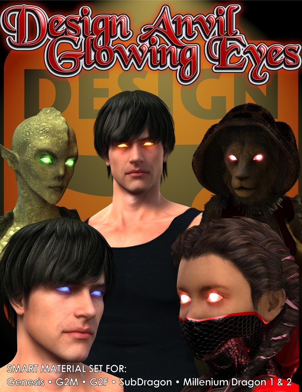 DA Glowing Eyes by: Design Anvil, 3D Models by Daz 3D
