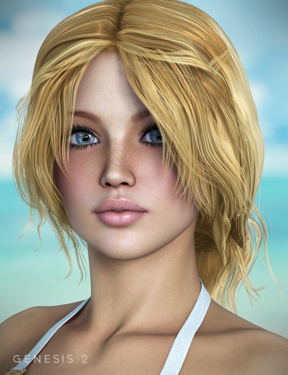 Hawthorn Hair for Genesis and Genesis 2 Female(s) by: goldtassel, 3D Models by Daz 3D