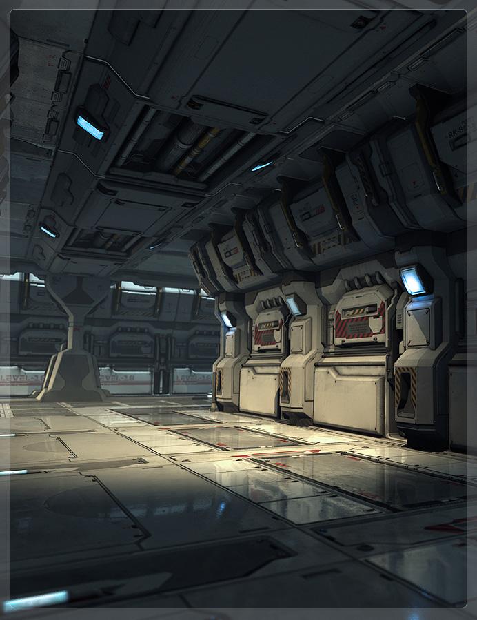 Modular Sci-Fi Kit 01 by: Stonemason, 3D Models by Daz 3D