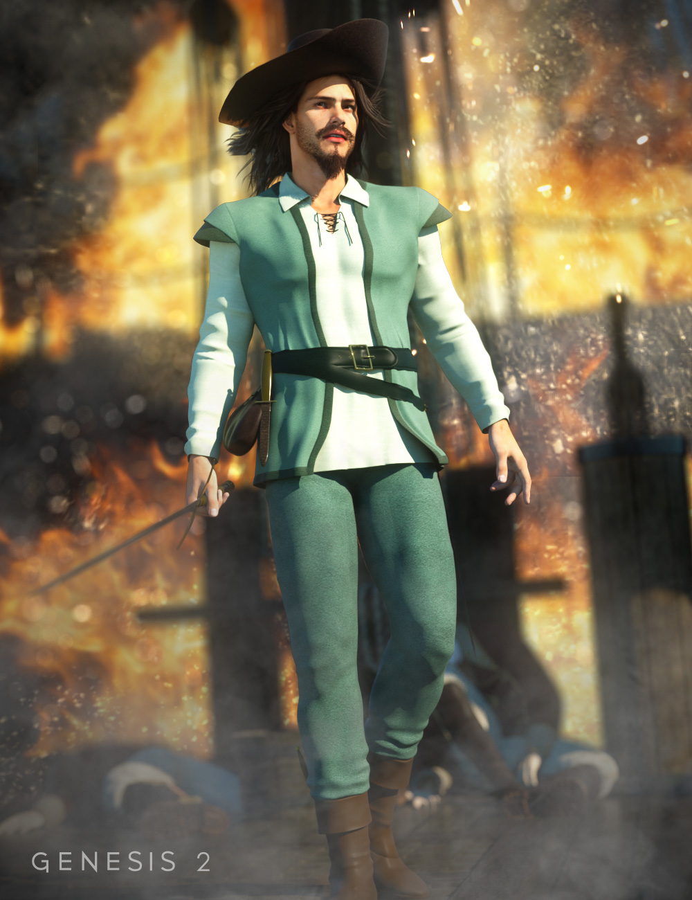 Adventurer for Genesis 2 Male(s) by: Ravenhair, 3D Models by Daz 3D