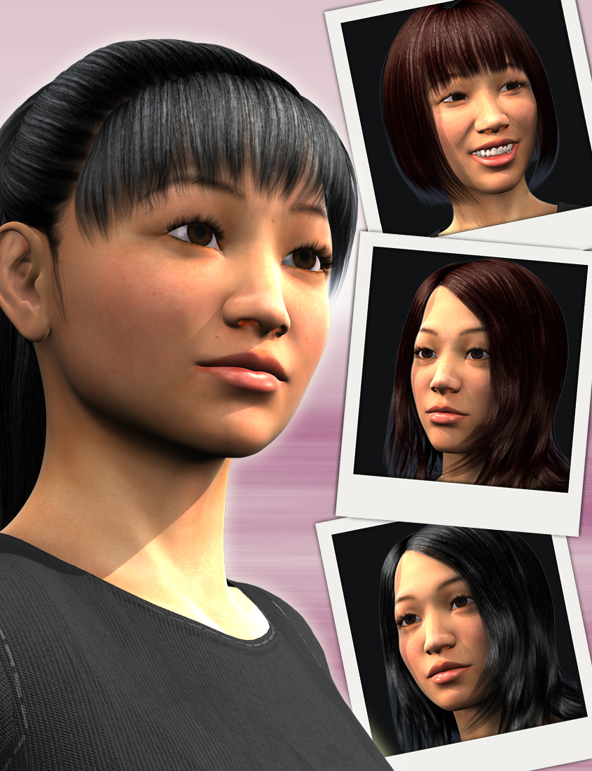 East Asia for Genesis 2 Females by: Dogz, 3D Models by Daz 3D