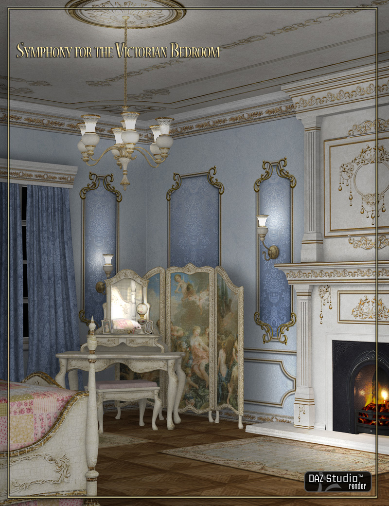 Symphony for Reflections Victorian Bedroom by: LaurieS, 3D Models by Daz 3D