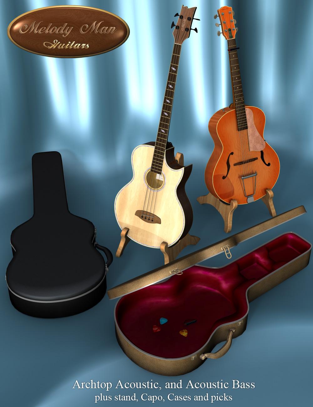 Melody Man Acoustic Guitars by: Don AlbertSimon3D, 3D Models by Daz 3D