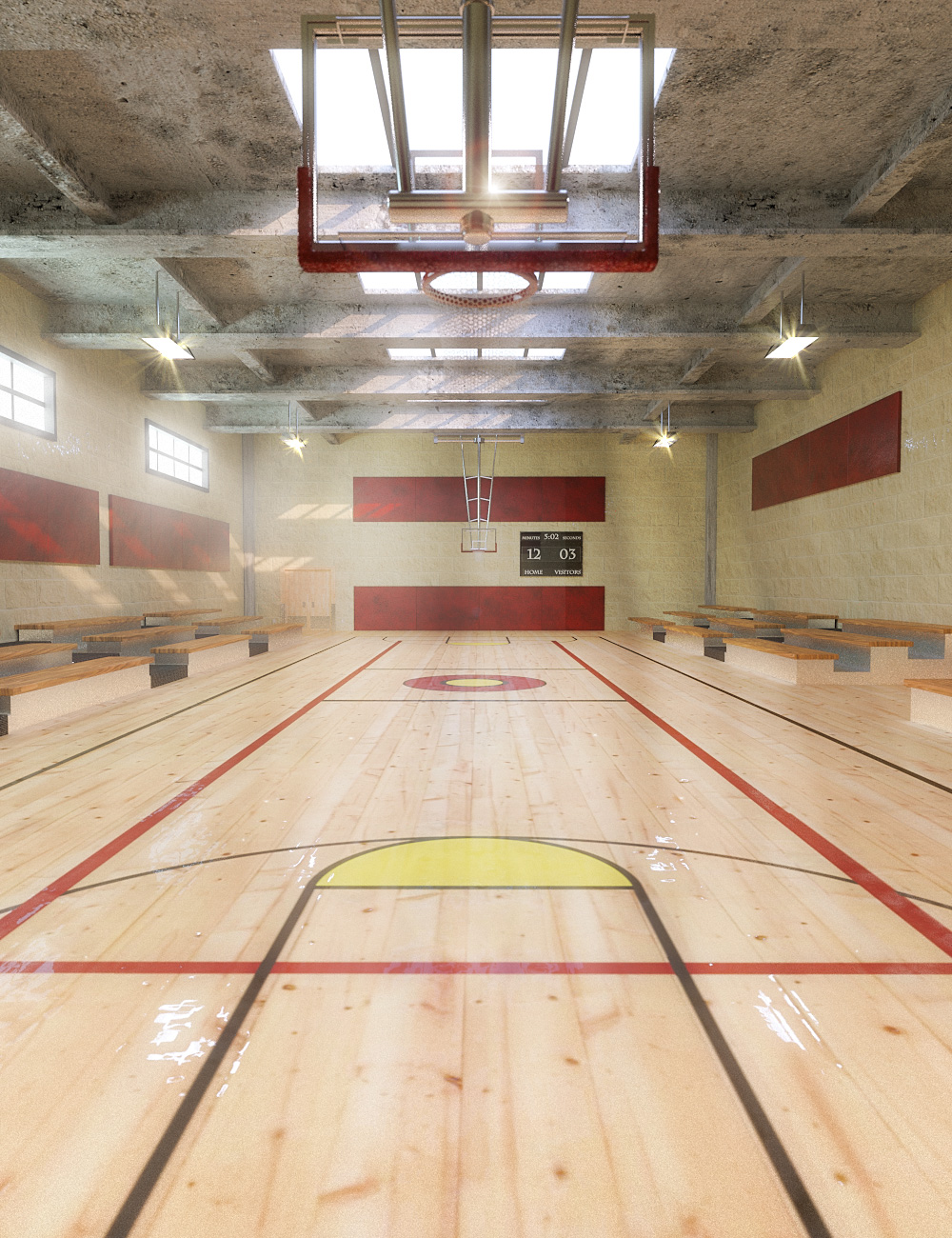 Gymnasium by: , 3D Models by Daz 3D