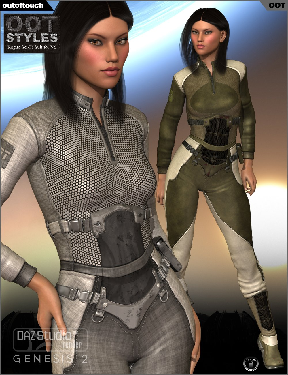 OOT Styles for Rogue Sci-Fi Outfit by: outoftouch, 3D Models by Daz 3D