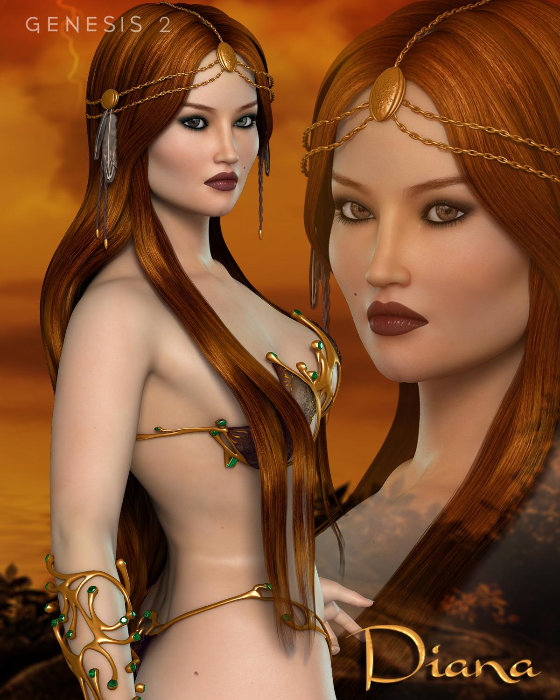 FW Diana by: Fred Winkler Art, 3D Models by Daz 3D