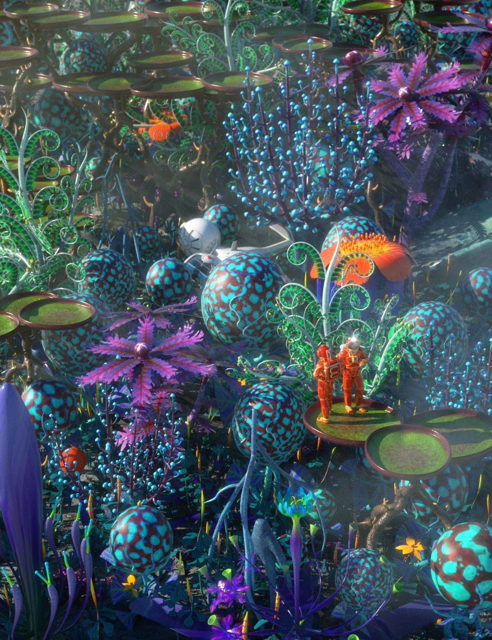 Alien Plants by: petipet, 3D Models by Daz 3D