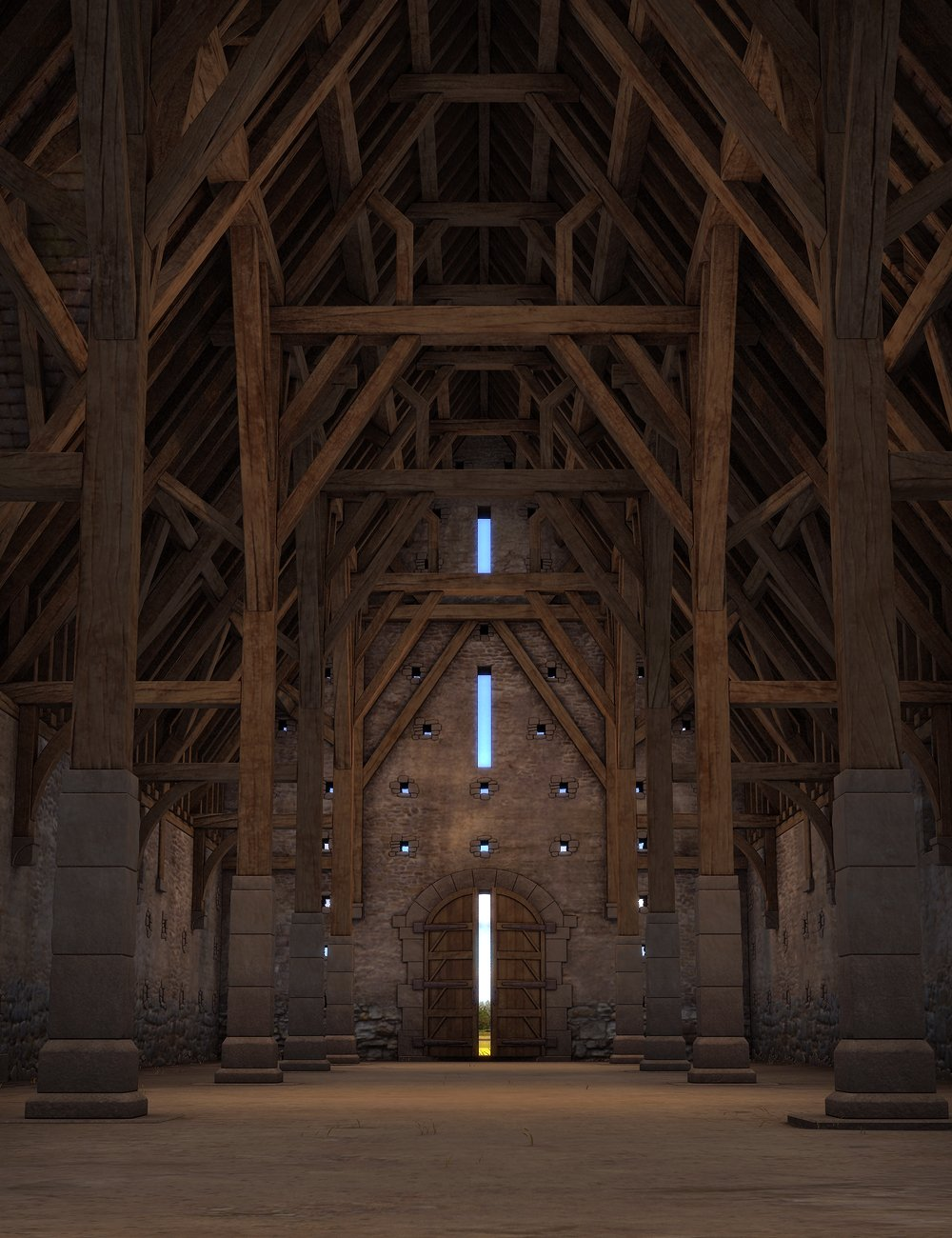 Tithe Barn by: SoulessEmpathy, 3D Models by Daz 3D