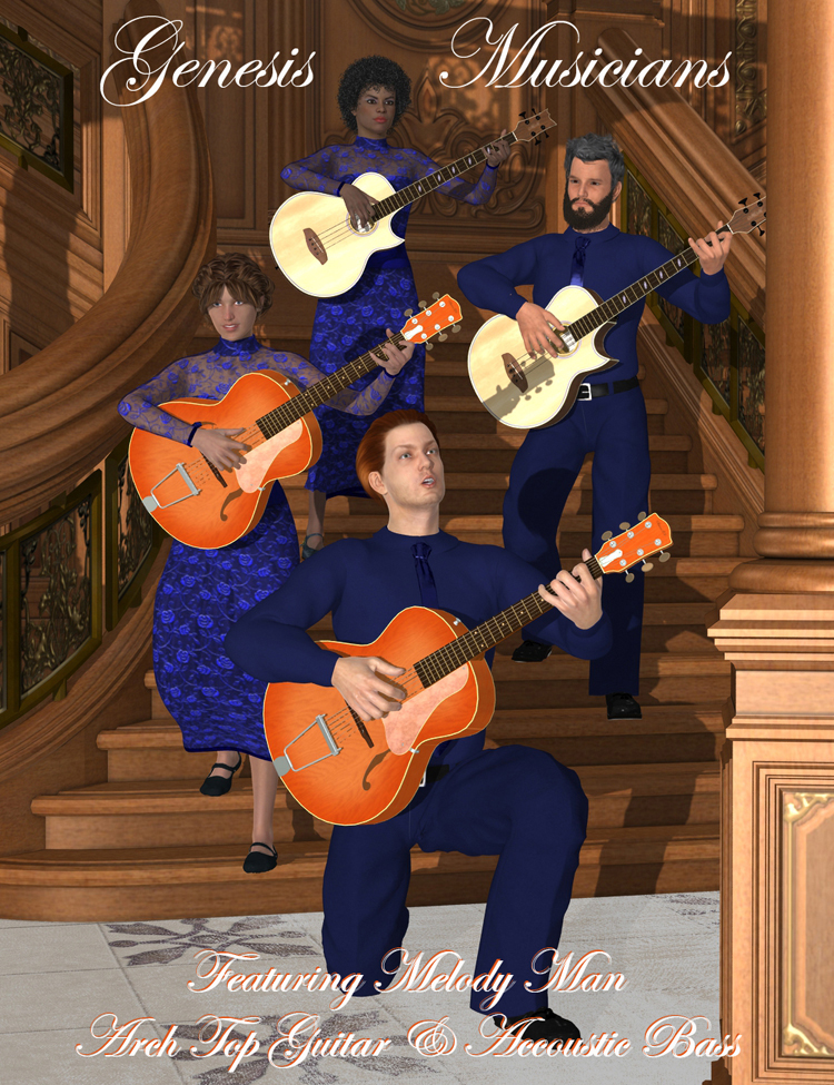 Genesis Musicians Acoustic Guitarists by: Don Albert, 3D Models by Daz 3D