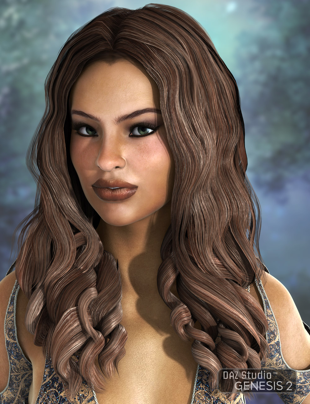 Kalypso Hair by: AprilYSH, 3D Models by Daz 3D