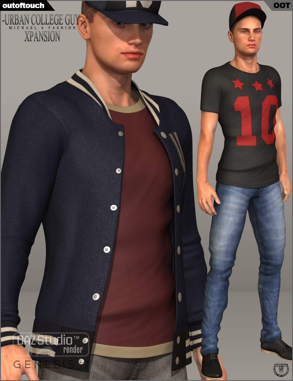 Urban College Guy XPansion by: outoftouch, 3D Models by Daz 3D
