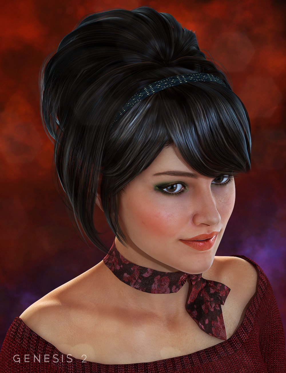Jewell Hair by: SWAM, 3D Models by Daz 3D