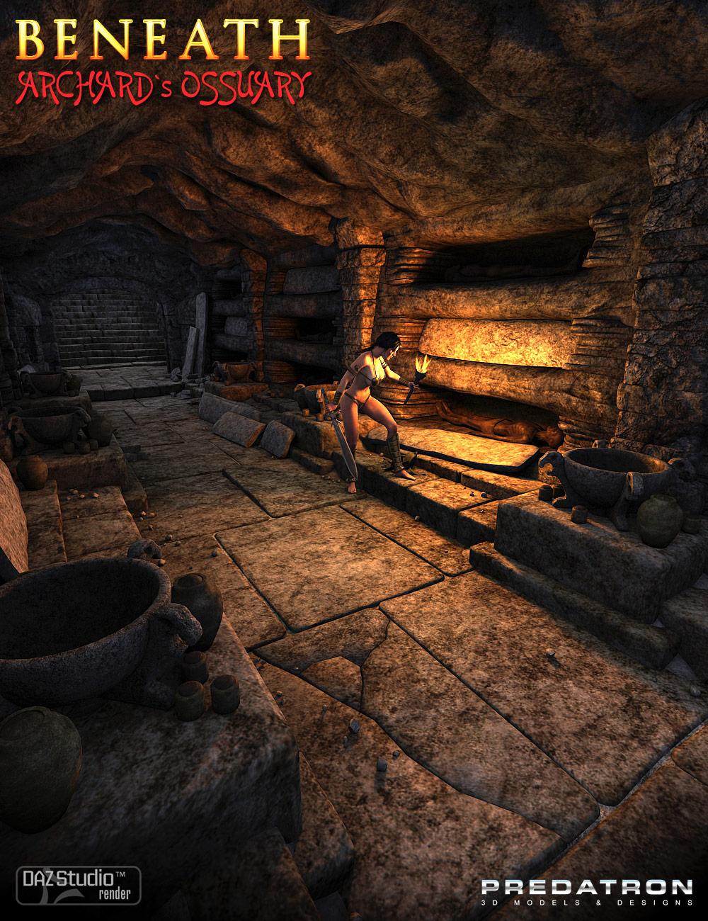 Beneath Archard's Ossuary by: Predatron, 3D Models by Daz 3D