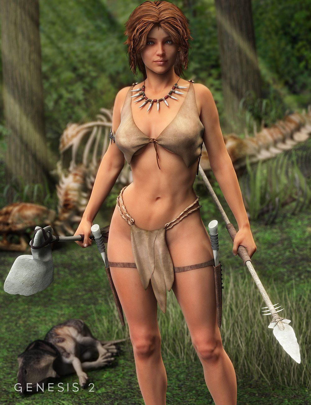 Tooth and Bone: Savage Accessories for Genesis 2 Female(s) by: , 3D Models by Daz 3D