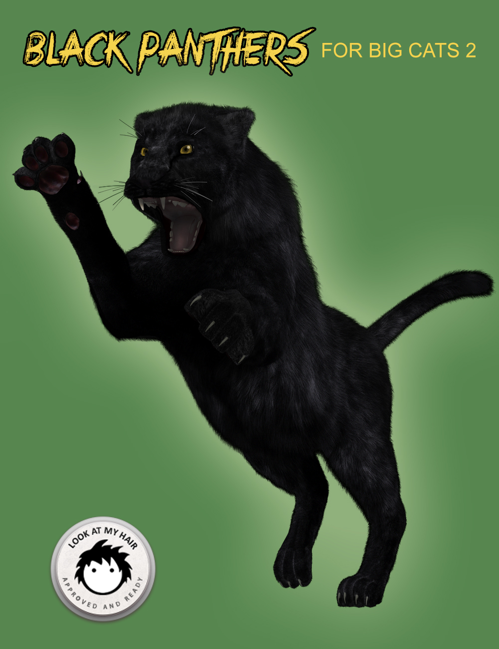 Black Panthers for DAZ Big Cat 2 by: Alessandro_AMKendall Sears, 3D Models by Daz 3D