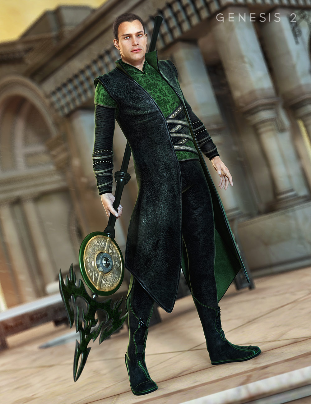 Asgard Cleric for Genesis 2 Male(s) by: MadaSarsa, 3D Models by Daz 3D
