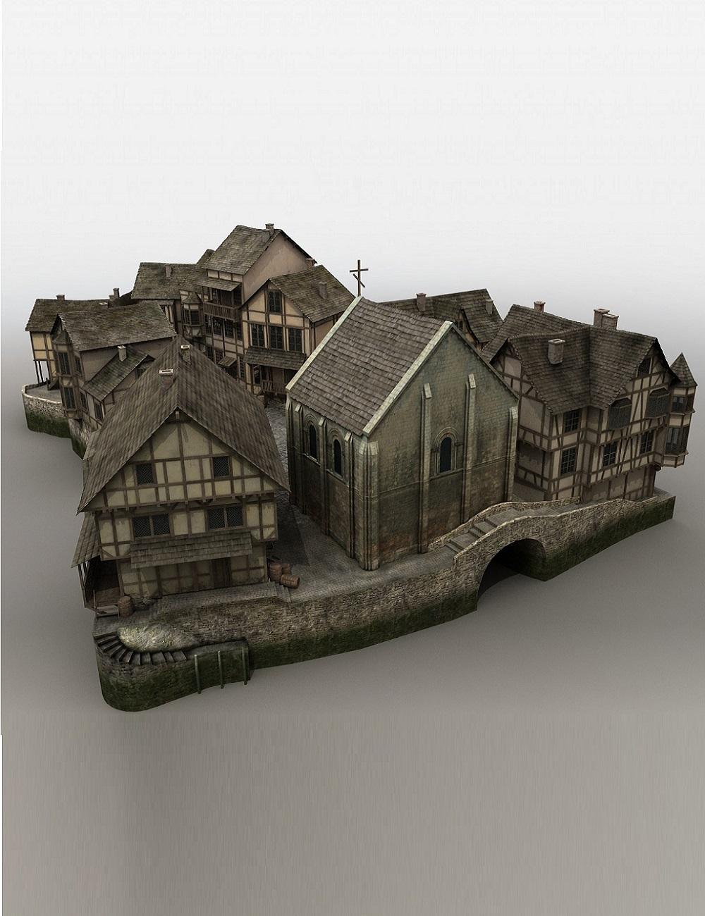 Medieval Fantasy Village by: Cornucopia3D, 3D Models by Daz 3D