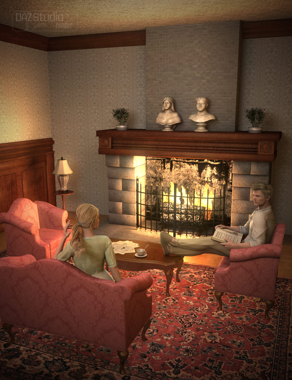 The Living Room by: ARTCollab, 3D Models by Daz 3D