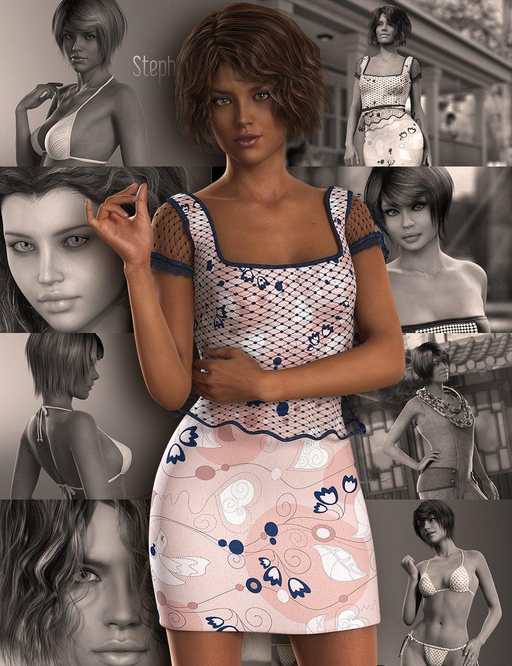 Stephanie 6 Starter Bundle by: , 3D Models by Daz 3D