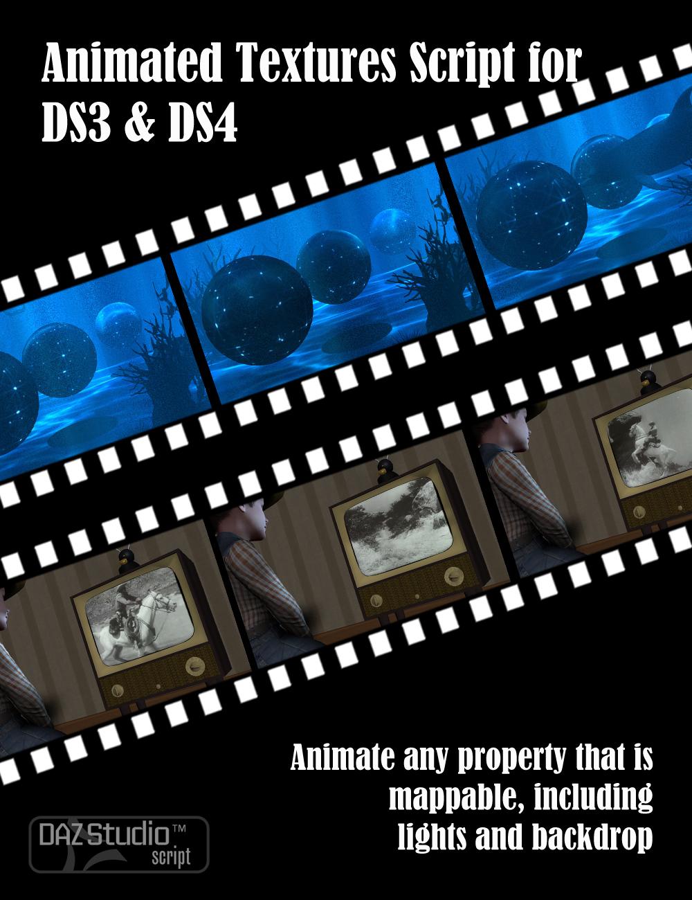 Animated Textures Script for DAZ Studio by: DraagonStorm, 3D Models by Daz 3D