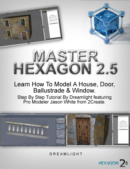 Master Hexagon - House Exterior Modeling by: Dreamlight, 3D Models by Daz 3D