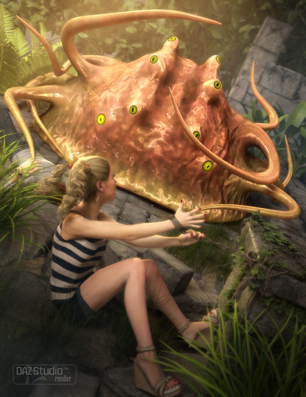 Slime Beast by: Valandar, 3D Models by Daz 3D