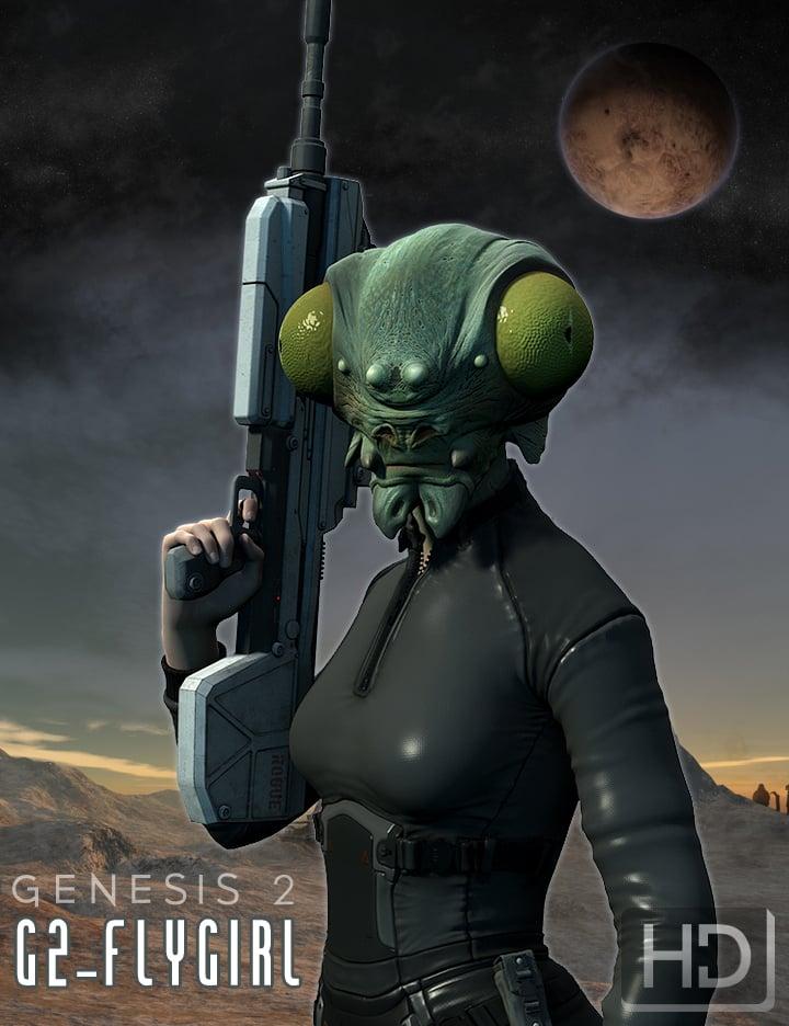 Fly Girl HD for Genesis 2 Female by: The AntFarm, 3D Models by Daz 3D