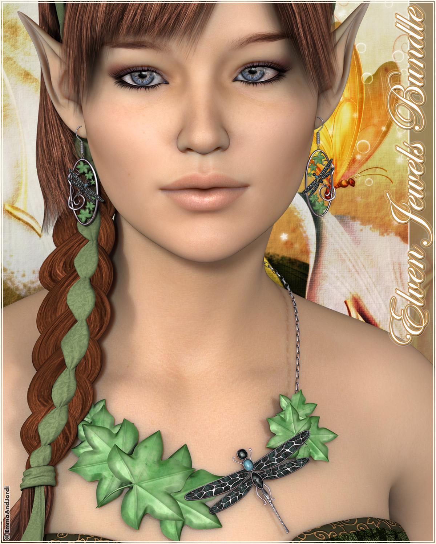 Elven Jewels Bundle For Any Figure by: EmmaAndJordi, 3D Models by Daz 3D