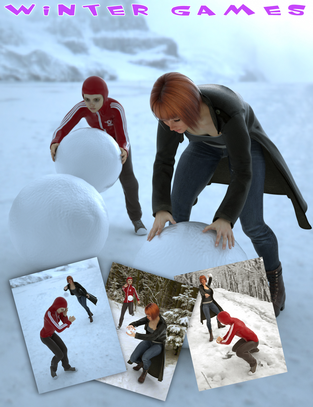 Winter Games for Genesis 2 Female(s) by: Slide3D, 3D Models by Daz 3D