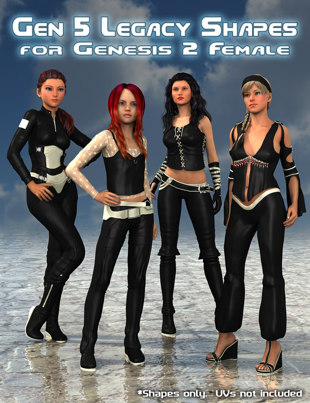 Generation 5 Legacy Shapes for Genesis 2 Female(s) by: SloshWerks, 3D Models by Daz 3D