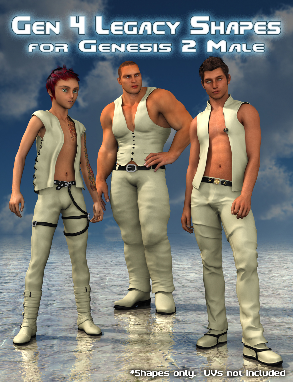 Generation 4 Legacy Shapes for Genesis 2 Male(s) by: SloshWerks, 3D Models by Daz 3D