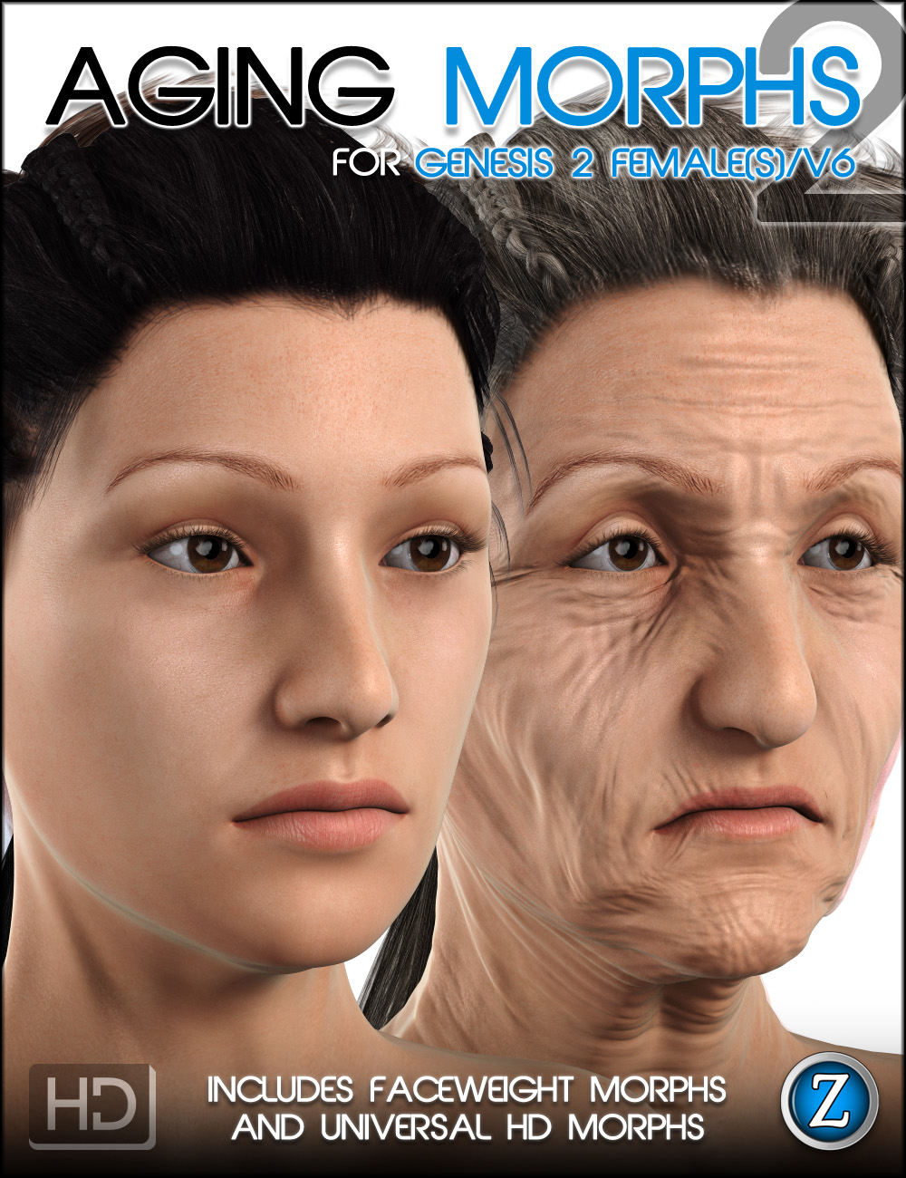 Aging Morphs 2 for Genesis 2 Female(s)/V6 HD by: Zev0, 3D Models by Daz 3D