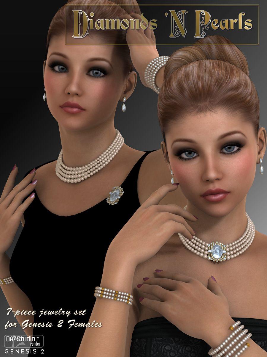 Diamonds 'N Pearls by: WildDesigns, 3D Models by Daz 3D