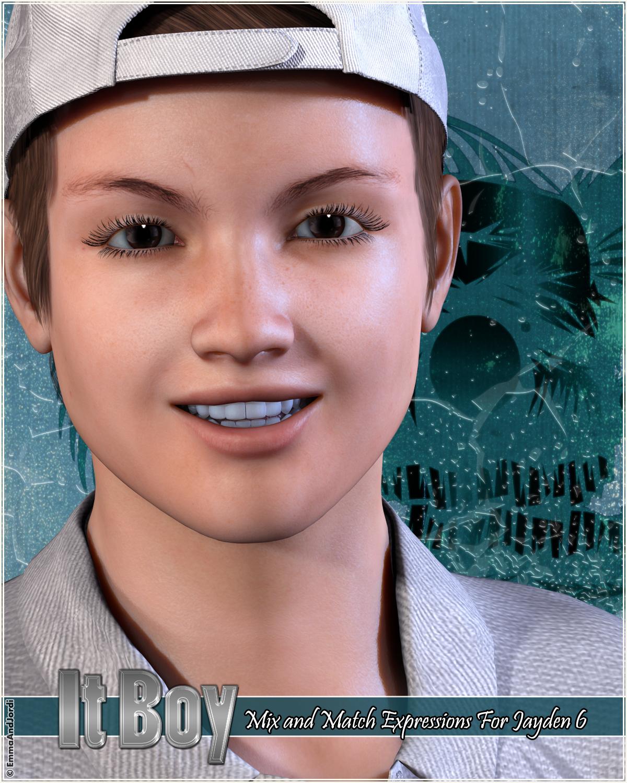 """It Boy"" Mix And Match Expressions For Teen Jayden 6 by: EmmaAndJordi, 3D Models by Daz 3D"