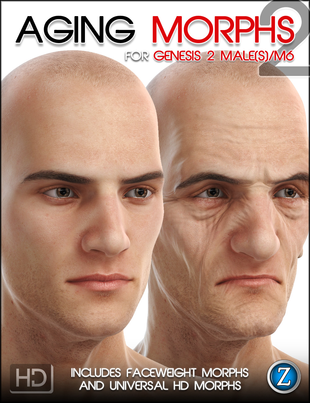 Aging Morphs 2 for Genesis 2 Male(s)/M6 HD by: Zev0, 3D Models by Daz 3D
