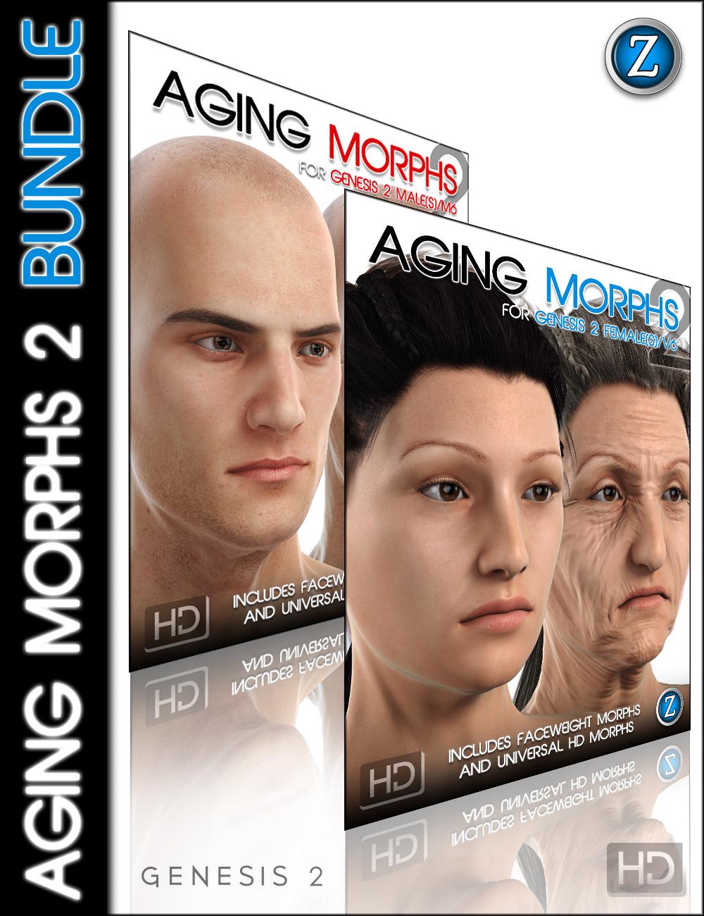 Aging Morphs 2 Bundle HD by: Zev0, 3D Models by Daz 3D