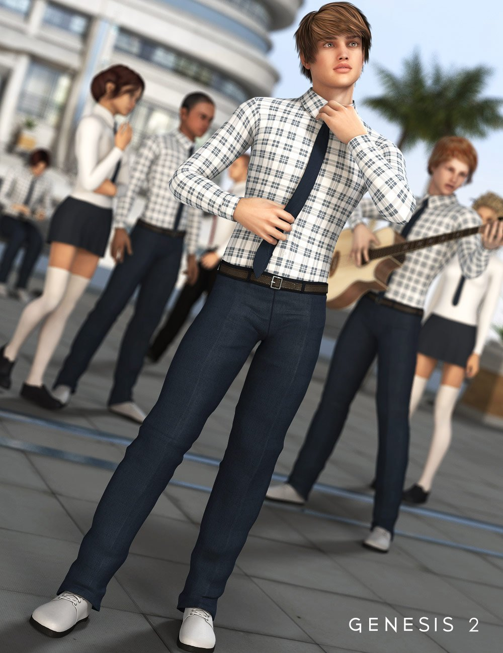 Internship Outfit for Genesis 2 Male(s) by: SarsaXena, 3D Models by Daz 3D